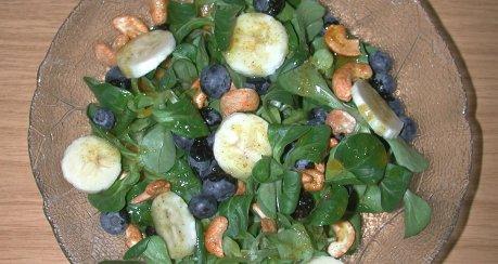 Curry-Feldsalat Blau-Gelb