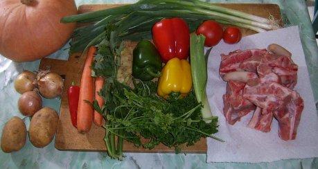 Gemüsecremsuppe - Gärtnerart -