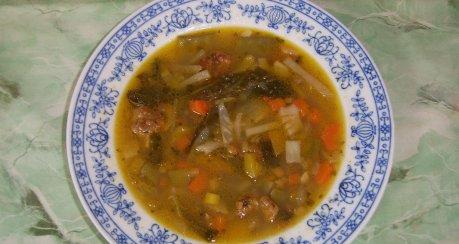 Gemüsesuppe mit Fleischkügeli Rezept | Webkoch.de