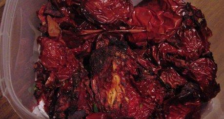 Tomaten (Gemüse) trocknen & lagern/einlegen