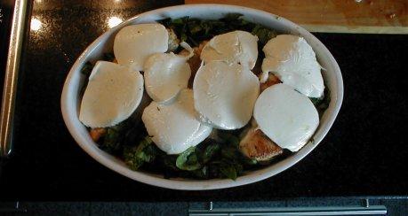 Mozzarella Hähnchen-Gratin
