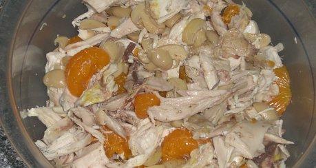 Rotwein-Geflügelsalat mit Curry