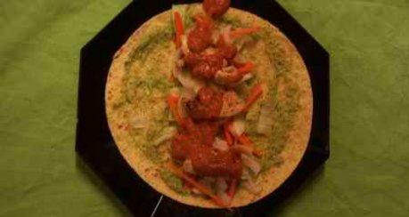 Maistortillas mit Hähnchen und feurigen Saucen...