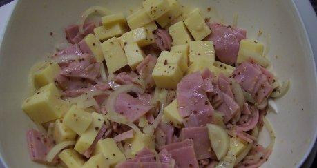 Käse-Kochschinkensalat