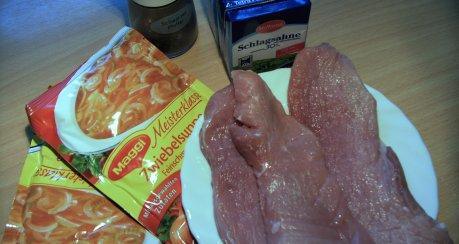 Zwiebel-Sahne-Schnitzel (super schnell)