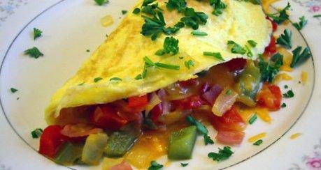 Omelette mit Gemüsefüllung (Omelette Con Verdure)