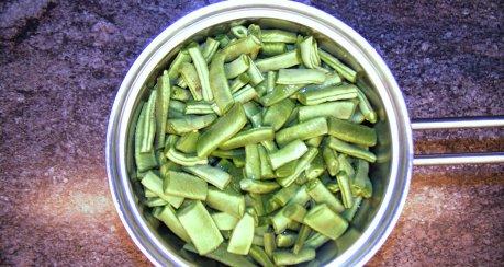 Auflauf von grünen Bohnen