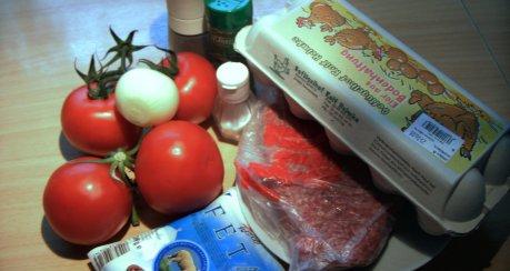 Gefüllte Tomaten mit Hackfleisch und Feta