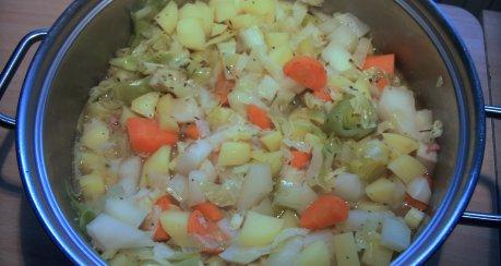 Gemüse-Eintopf mit Kasseler