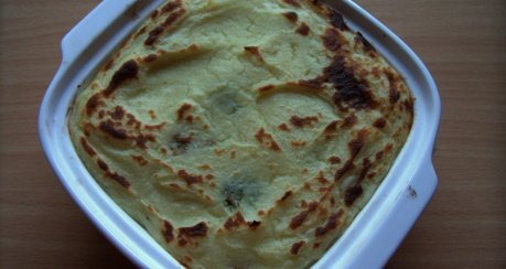 Kartoffelpüree auf Rosenkohl