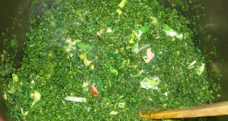 Grünkohl mit Lauch, Kasseler und Kohlwürstchen