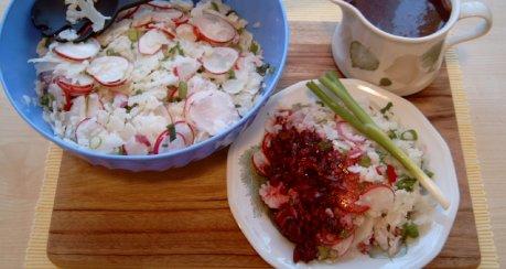 Blumenkohl-Salat mit Radieschen