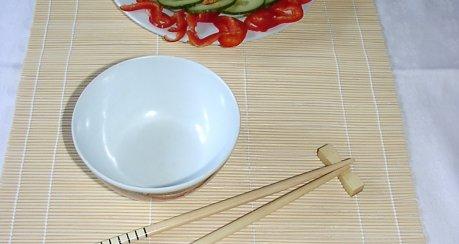 beklopptes Huhn (Bang-Bang-Hühnchen, Vorspeise, Sichuan)