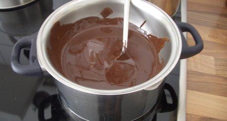 Fondant Au Chocolat mit Vanillesauce