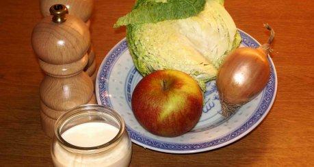 Feigenmedaillons mit aromatischen Spätzle und fruchtigem Kohlgemüse