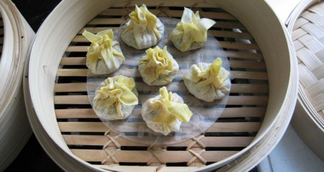Dampfgegarte dumplings - bo li shao mai