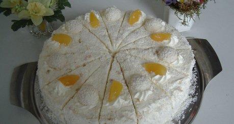 Raffaello-Torte mit Aprikosen