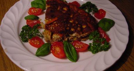 Gemüse-Eierkuchen mit Garnelen