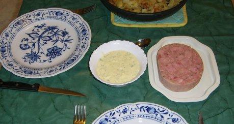 Sülze mit Bratkartoffel und Remoulade