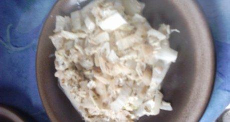 Chinakohl mit Frischkäsesauce
