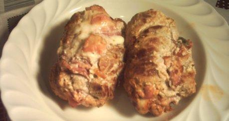 Schweinerouladen mit Mozzarellafüllung - 2 Varianten