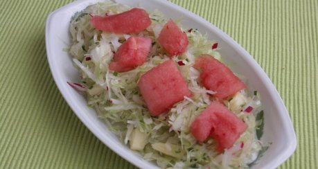 Weißkohlsalat (Krautsalat) mit Melone