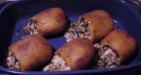 Gefüllte Spinat-Käse Kartoffeln