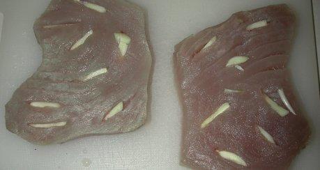 Thunfischsteaks mit Knoblauch