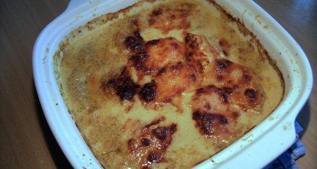 Filet mit Ananas in Currysosse