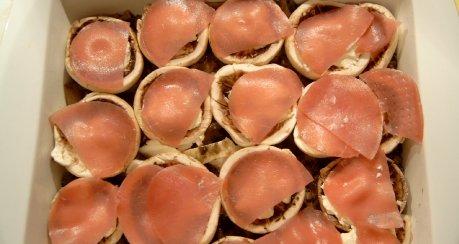 Gefüllte Champignon (mit Frischkäse)