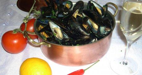 Muscheln auf Seemannsart