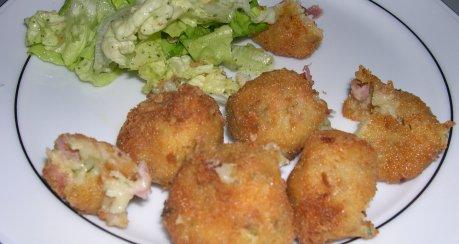Schinken-Käse-Croquetas