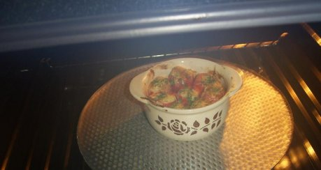 Antipasti von Tomate und Knoblauch