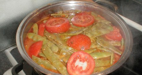 Griechische grünen Bohnen