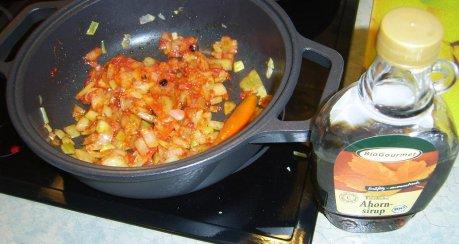 Südamerikanisches Hüftsteak mit Pfeffer - Chili Soße
