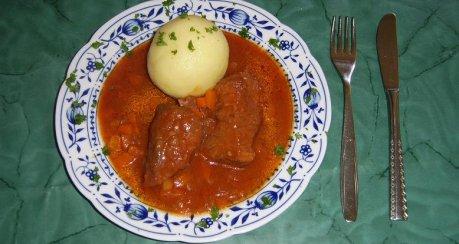 Rindfleisch in süßsaurer Soße mit Gemüse