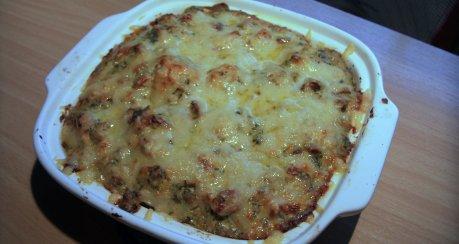 Überbackener Blumenkohl mit Kartoffeln