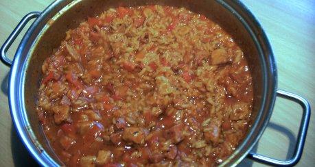 Serbisches Reisfleisch vom Balkan