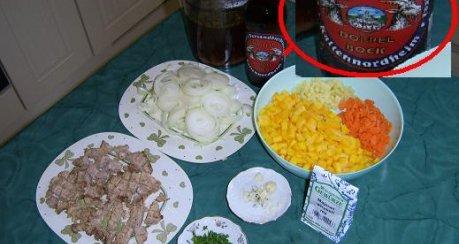 Dunkle Bockbiersuppe