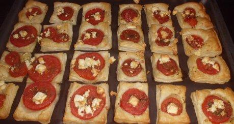 Tomatenschnittchen (Blätterteig)