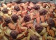 Rezept Kürbis-Kartoffel-Hackbällchen auf dem Blech