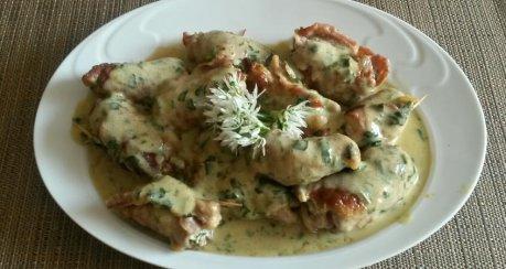 Involtini Piccoli con aglio orsino (Mini-Involtini mit Bärlauch)