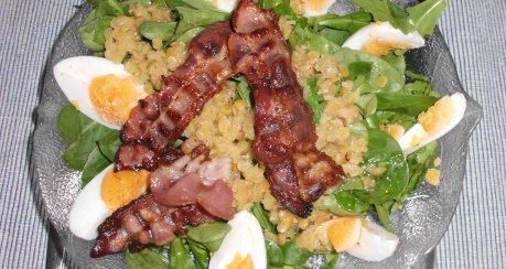 Salat St. Jean mit Linsen, Ei & Speck