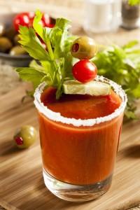 Wodka und Tomatensaft