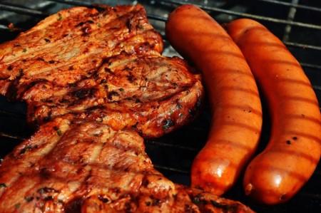 Steak und Wurst